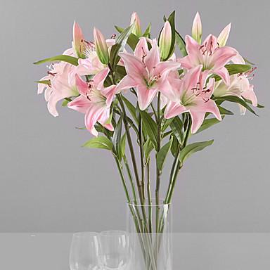 1 Ág Műanyag Liliom Asztali virág Művirágok