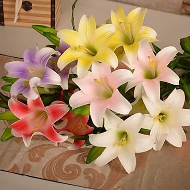 1db mesterséges liliom pu virágok 5 fej lakodalom lakberendezés