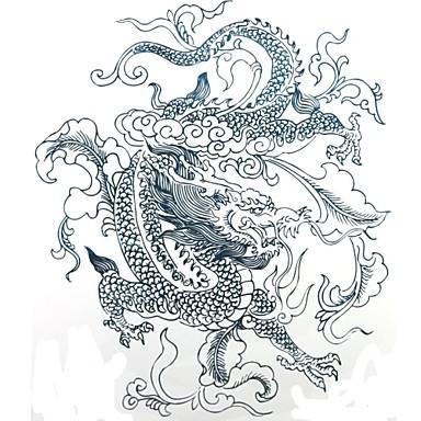 Tattoo Stickers Animal Series Large Size Lower Back Waterproof Women Men Adult Boy Teen Flash Tattoo Temporary Tattoos