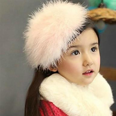 Mädchen Haarzubehör Ganzjährig Wolle Stirnbänder - Weiß Rosa