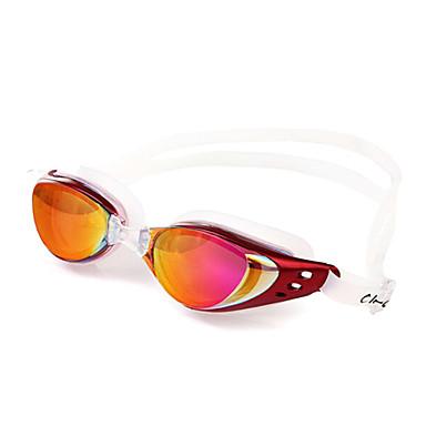 Schwimmbrille Unisex Anti-Beschlag / Wasserdicht / Anti - UV - Beschichtung Kieselgel PC Rot / Schwarz / Orange / SilberRot / Grau /