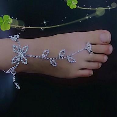 Metal Çıplak Ayaklı Sandalet Kadın's Düğün Seyahat Gümüş