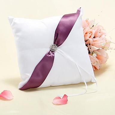 Material Perlenstickerei Print Baumwolle Ring Kissen Urlaub Klassisch Hochzeit Frühjahr, Herbst, Winter, Sommer Ganzjährig