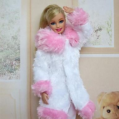 Casual Dresses For Barbie Doll Velvet Satin Dress For Girl's Doll Toy