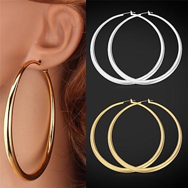 Damen Kreolen - Platiert, vergoldet Erklärung, Simple Style Silber / Golden Für Hochzeit Party Geschenk