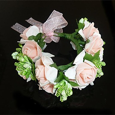 Women's Fabric Headpiece-Wedding Wreaths Classical Feminine Style