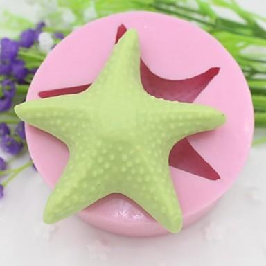sjøstjerner formet  kake sjokolade silikon Form kake dekorasjon verktøy, l8.5cm * b8.5cm * h3.3cm