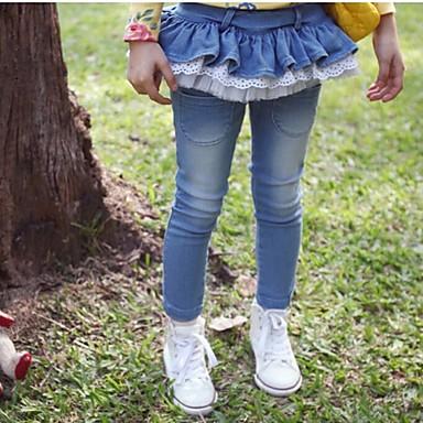 Jeans Solide Frühling Herbst Blau