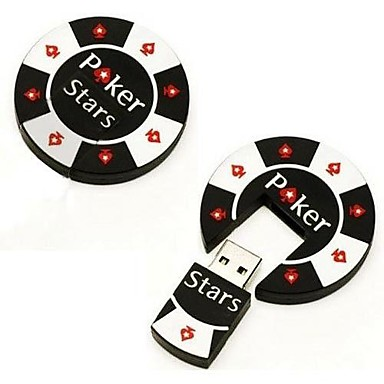 16gb δροσερό πόκερ τσιπ μνήμης usb 20 κίνησης μανδρών ραβδί λάμψης