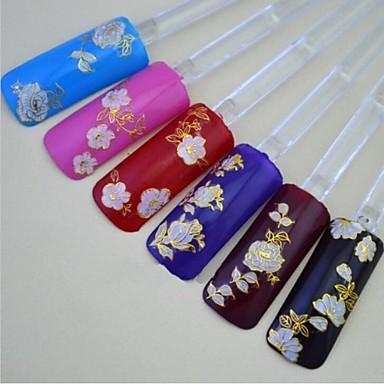 24pcs De Mezclado De Color Rosa De Oro Flores Elegantes Decoraciones