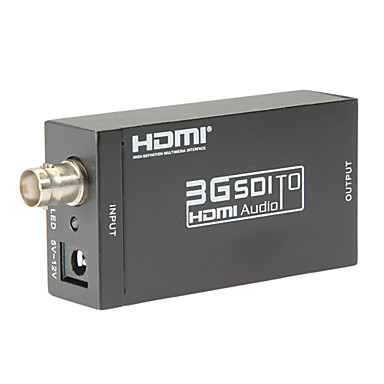 SDI σε HDMI μετατροπέας SD-SDI HD-SDI 3G-SDI σε HDMI προσαρμογέα υποστηρίζει 720p 1080p