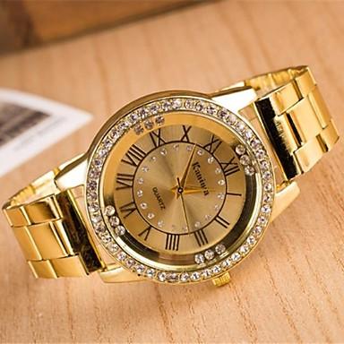 Kadın's Quartz Elbise Saat Büyük indirim Alaşım Bant Işıltılı Gümüş Altın Rengi Gül