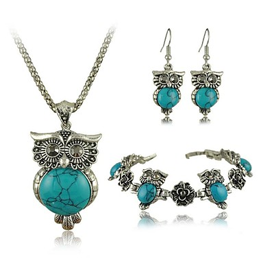 Women's Turquoise Jewelry Set - Include Green / Blue For Wedding / Party / Special Occasion / Anniversary / Engagement / Gift / Daily