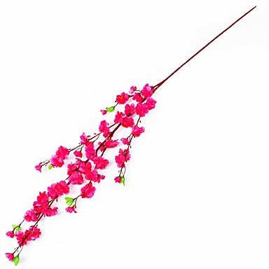 Κλαδί Μετάξι Πλαστικό Δαμασκηνί Λουλούδι για Τραπέζι Ψεύτικα λουλούδια