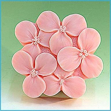 lila virág alakú fondant torta csokoládé szilikon öntőforma