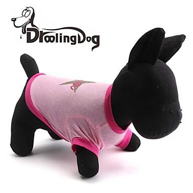 Γάτα Σκύλος Φανέλα Ρούχα για σκύλους Αναπνέει Αστέρια Ροζ Στολές Για κατοικίδια