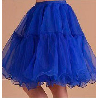 Slipler A-Line Alt Giyimi Balo Elbisesi Alt Giyimi Kısa Uzunluk 3 Açık Sarı Gök Mavisi Kırmzı Mavi Pembe