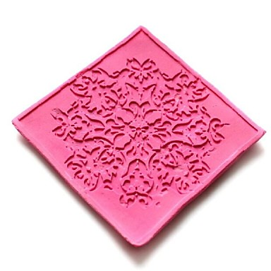 Lace Embossing Dies Fondant Cake Chocolate Silicone Mold Pad,Cupcake Decoration Tools,L6cm*W6cm*H0.3cm