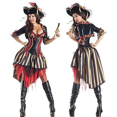 Pirat Cosplay Kostumer Dame Halloween / Karneval / Nytt År Festival / høytid Halloween-kostymer Lapper