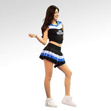 Cheerleader Costumes Outfits Women's Training / Performance Cotton / Polyester Sleeveless Natural