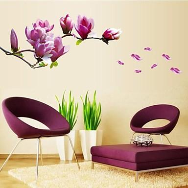 Blomster Botanisk Veggklistremerker Fly vægklistermærker Dekorative Mur Klistermærker, Vinyl Hjem Dekor Veggoverføringsbilde Vegg