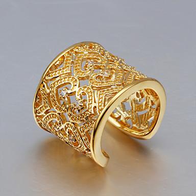 Dame Krystall Band Ring - Rose gull, Sølv, Zirkonium Gull, Gull / Rosa