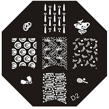 Nail Art Stamp Stamping Image Template Plate D Series NO.2