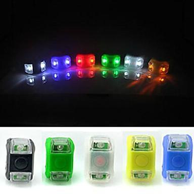 Kerékpár hátsó lámpa LED Kerékpározás Vízálló Könnyű CR2032 Lumen AkkumulátorBattery Kerékpározás - FJQXZ