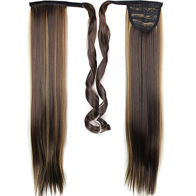Straight Ponytails Synthetic Hair Piece Hair Extension