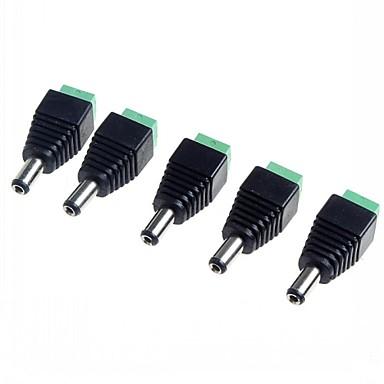 5.5 x 2.1mm cctv dc stopcontacten adapter (5-pack)