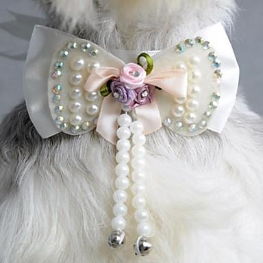 Γάτες Σκυλιά Γραβάτα/Παπιγιόν Λευκό Ρούχα για σκύλους Καλοκαίρι Άνοιξη/Χειμώνας Φιόγκος Μοντέρνα Γάμος