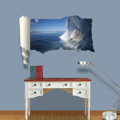 Mode Landschap Vrije tijd Mensen Muurstickers 3D Muurstickers Decoratieve Muurstickers Materiaal Verwijderbaar Huisdecoratie Muursticker