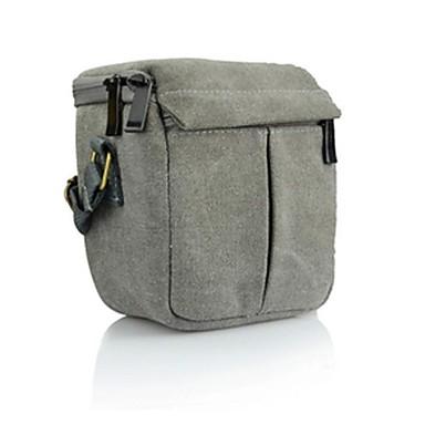 Dengpin® Canvas Camera Messenger Shoulder Bag Case for Sony A6000 A5100 Canon EOS M2 Panasonic GF6 Samsung NX3000