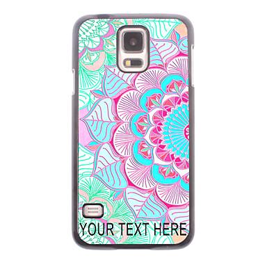 jumătate din floare de design carcasa de metal pentru i9600 Samsung Galaxy S5 - personalizat cazul în care telefonul