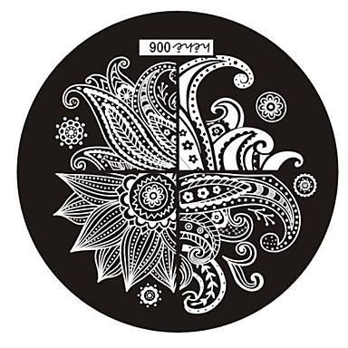 Abstract - Vinger/Teen/Andere Metaal - 1 - stuks 6x6 - (cm)