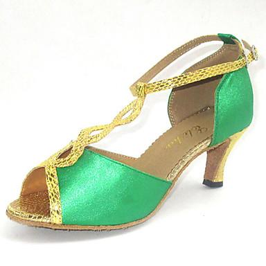 Latin Women's Sandals Satin Dance Shoes More Colors Customizable