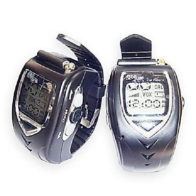 22 채널은 큰 백라이트 LCD 화면과 쌍 무전기에게 손목 시계 스타일을 은색