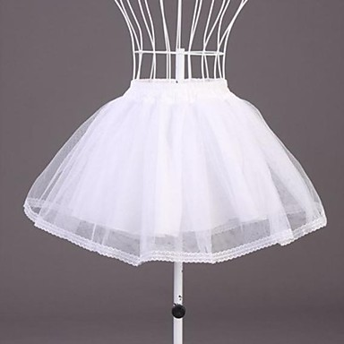 Wedding Special Occasion Slips Polyester Organza Short-Length A-Line Slip With Lace