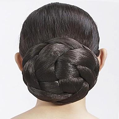 골드 블랙 브라운 밝은 골든 어두운 무늬 정장 스타일 클래식 헤어 번 Updo 고품질 올림머리 가발 인조 합성 헤어 헤어 피스 헤어 확장 정장 스타일 클래식 일상