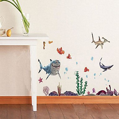 Animals Still Life Romance Fashion Florals Cartoon Fantasy Wall Stickers Plane Wall Stickers Decorative Wall Stickers, Vinyl Home