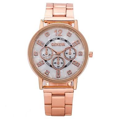 Жен. Кварцевый Наручные часы / Часы-браслет Cool / Повседневные часы Нержавеющая сталь Группа Кулоны / На каждый день Розовое золото