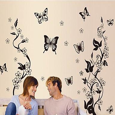 Landskap Still Life Romantik Mote Blomster fantasi Botanisk Veggklistremerker Animal Wall Stickers Dekorative Mur Klistermærker, Vinyl