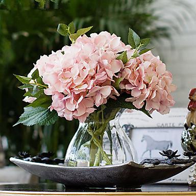плоть Калифорния розовые гортензии искусственные цветы с вазой