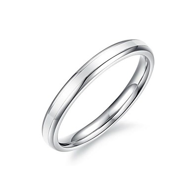 Fashion Women's Silver Titanium Steel Band Rings(1 Pc)
