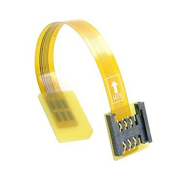 GSM CDMA szabványt uim sim kártya kit férfi-nő kiterjesztése soft lapos FPC kábel extender 10cm