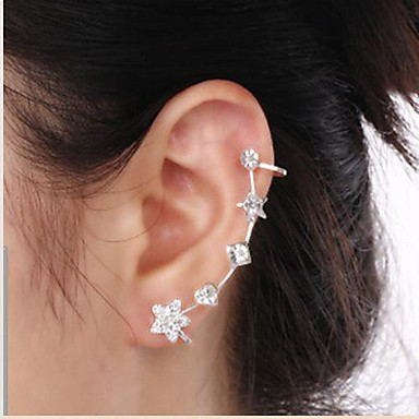 Χειροπέδες Ear απομίμηση διαμαντιών Κράμα Heart Shape Star Shape 1 2 Κοσμήματα Γάμου Πάρτι Καθημερινά Causal 1pc