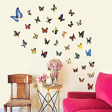 milieu-verwijderbare kleurrijke vlinder muur sticker