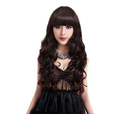 Women Synthetic Wig Long Black Black Wig Costume Wigs Costume Wigs