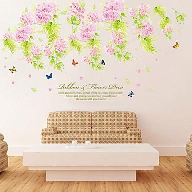 경치 정물 로맨스 패션 꽃 보타니칼 벽 스티커 플레인 월스티커 데코레이티브 월 스티커, 비닐 홈 장식 벽 데칼 벽