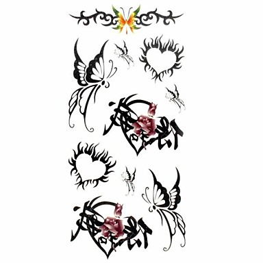 многоцветный - Тату с животными - Временные тату - для Женский/Взрослый/Подростки - 1 - 18.5*8.5cm - С рисунком/Нижняя часть спины/Waterproof - Бумага